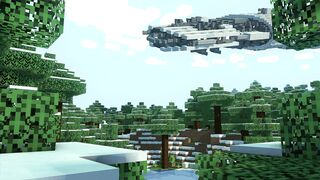the fall of a spaceship in minecraft