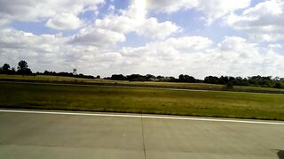 Exciting plane takeoff from boryspil airport