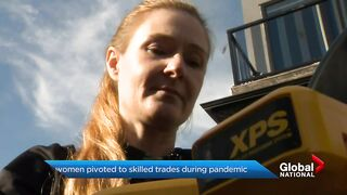 Pandemic Pivot_ More women shifting careers to skilled trades work.