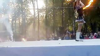 огненое шоу в парке маяковского екб