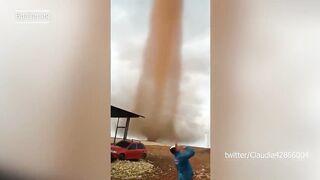 В Бразилии  обрушилась песчаная буря