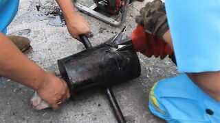 Maejo Team Rescues Puppy Stuck in Iron Pipe
