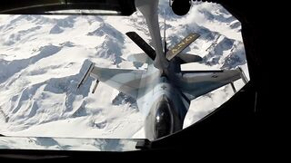 Refueling the aircraft in the air
