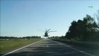Helicopter On The Road